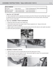 Carter Talon GSX / GSR 150 Set Up Instruction