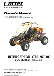 carter brothers interceptor gtr 250 differential user / parts manual