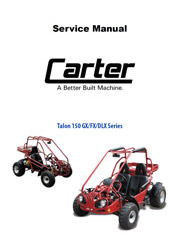 Carter Talon 150 DLX FX GX Service Manual